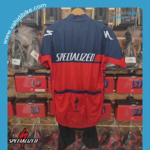 ست پیراهن و دوبنده اسپشیال زد (specialized) قرمز آبی